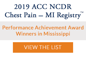 2019 Chest Pain - MI Registry Performance Achievement Award Winners
