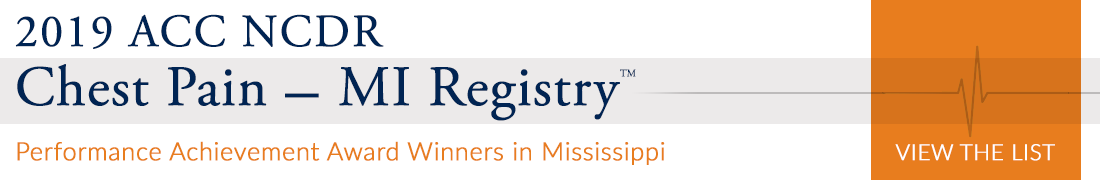 2019 Chest Pain - MI Registry Performance Achievement Award Winners